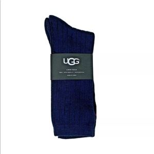 UGG Men's Classic Ribbed Crew Sock, navy heather
